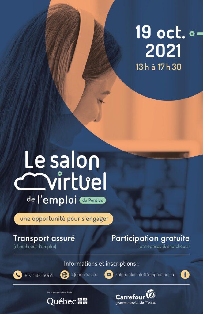 Pamphlet salon virtuel de l'emploi